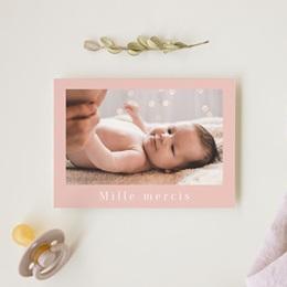 Carte de Remerciement Naissance Lily-Rose gratuit