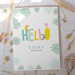 Affiche Déco Chambre Enfant Toucan Pastel fille gratuit