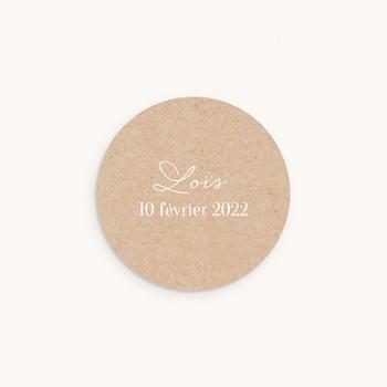 Sticker Enveloppe Naissance Joli Hiver, fond naturel personnalisé