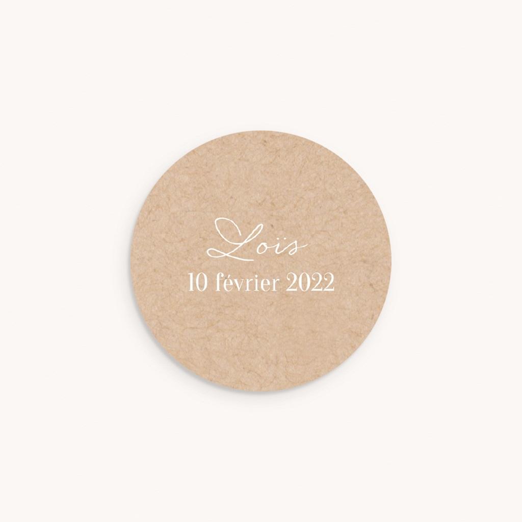 Sticker Enveloppe Naissance Joli Hiver, fond naturel