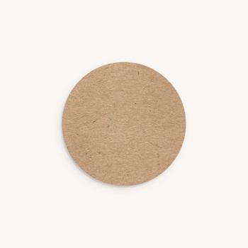 Sticker Enveloppe Naissance Kraft Portrait, Sticker 4,5 cm personnalisé