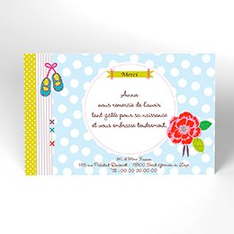 Carte de Remerciement Naissance Toupetibouchka