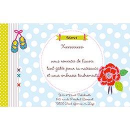 Carte de Remerciement Naissance Toupetibouchka pas cher