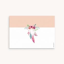 Carte de Remerciement Naissance Bohème aquarelle pas cher