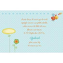 Faire-part de Naissance Honey bleu gratuit