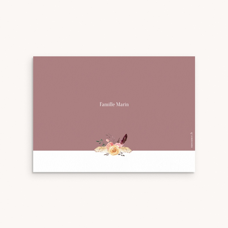 Carte de Remerciement Naissance Boho Kraft pas cher