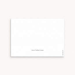 Carte de Remerciement Naissance Petit mot fleuri pas cher