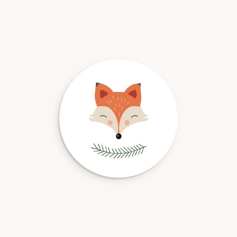 Sticker Enveloppe Naissance Joli Renard