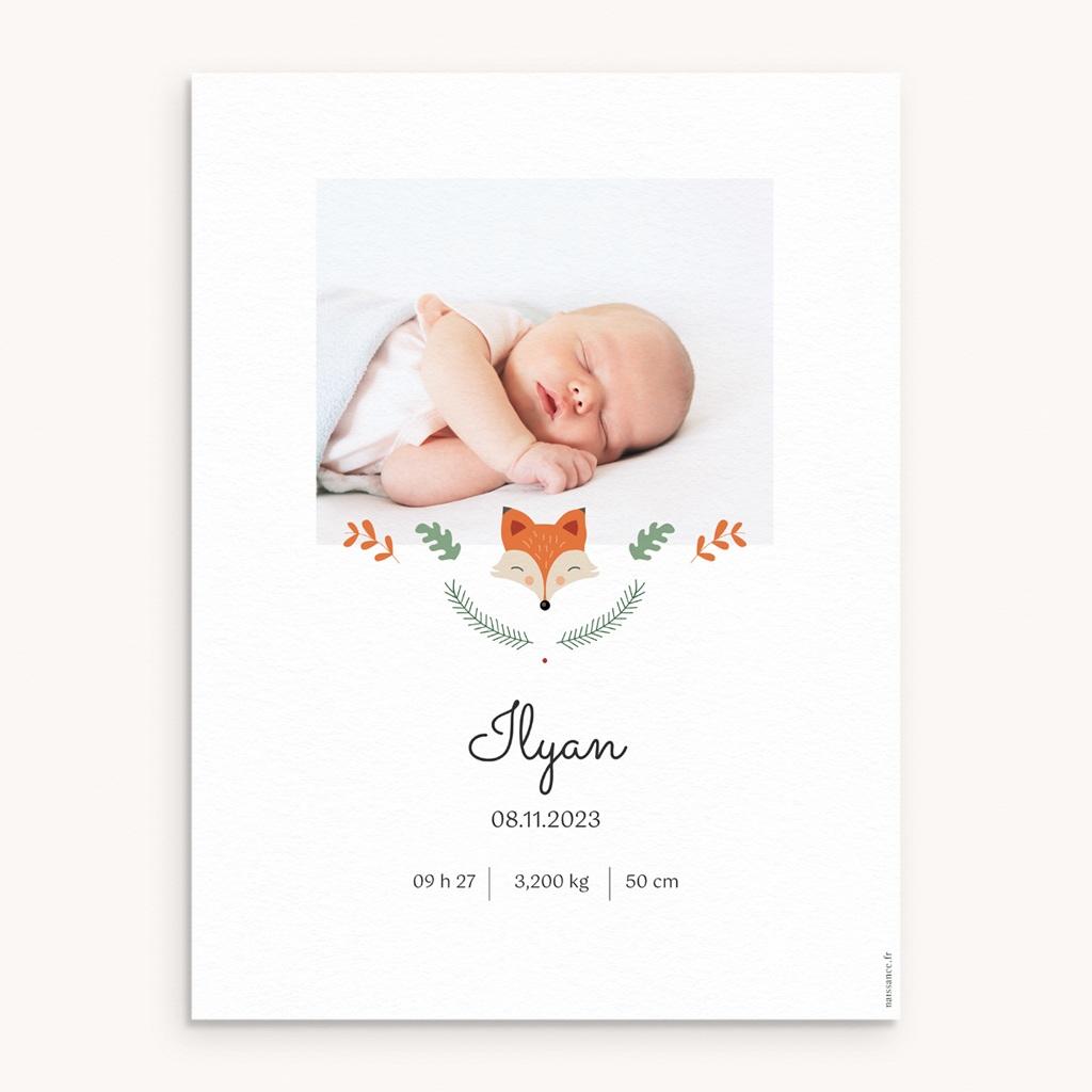 Affiche Déco Chambre Enfant Joli Renard