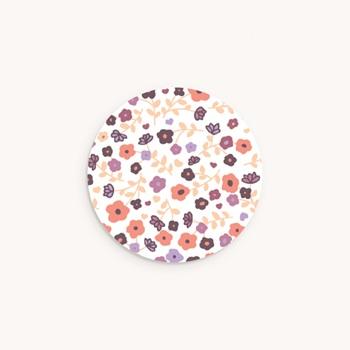 Sticker Enveloppe Naissance Petit Mot Fleuri fille personnalisé