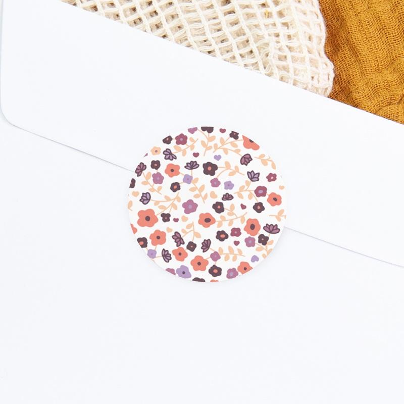 Sticker Enveloppe Naissance Petit Mot Fleuri fille gratuit