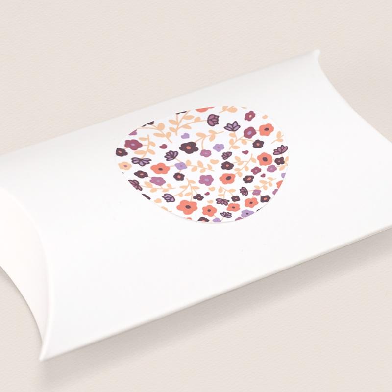 Sticker Enveloppe Naissance Petit Mot Fleuri fille