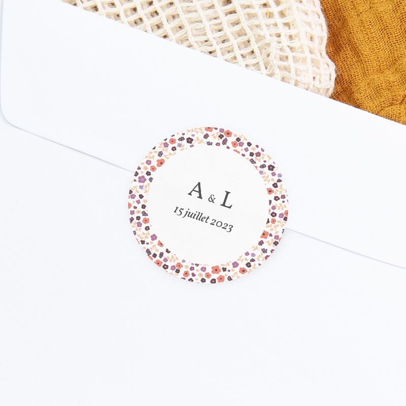Sticker Enveloppe Naissance Petit Mot fleuri Jumelles gratuit