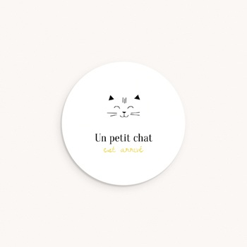 Sticker Enveloppe Naissance Les Petits Chats personnalisé