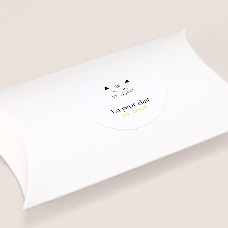 Sticker Enveloppe Naissance Les Petits Chats