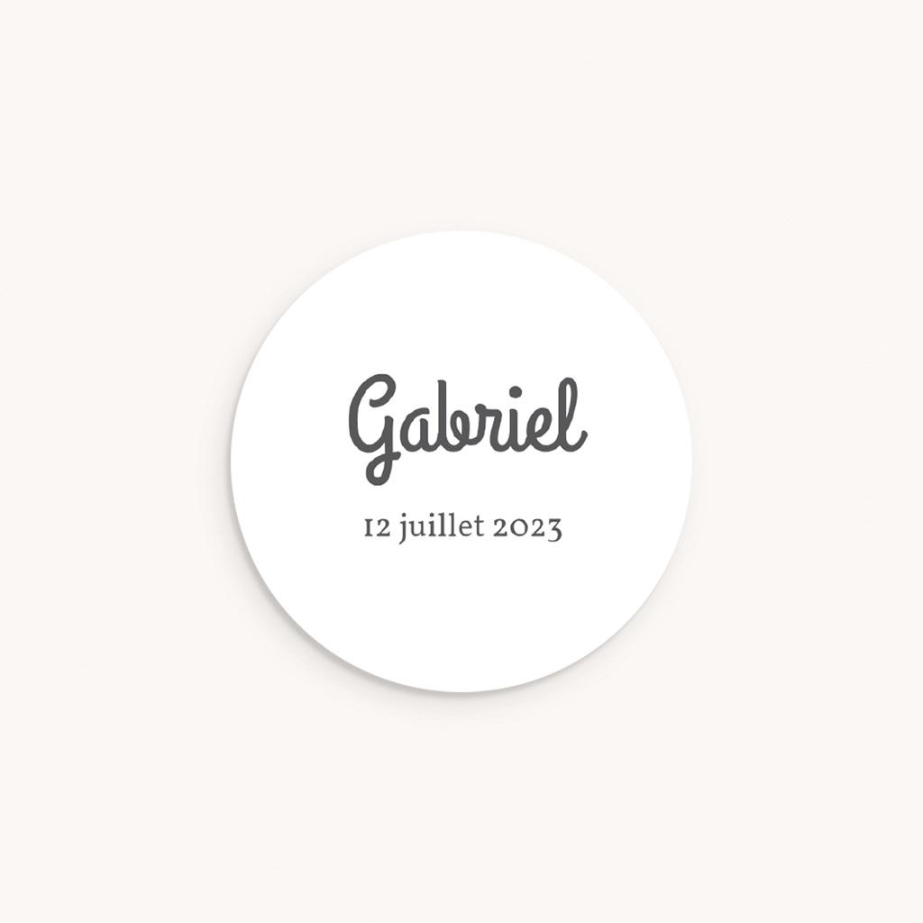 Sticker Enveloppe Naissance Bandeau gris, Le Petit Prince