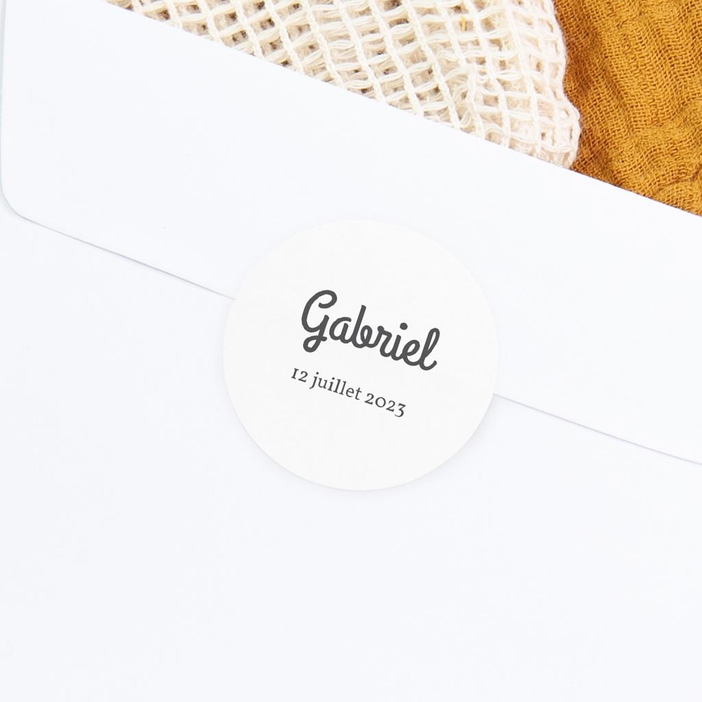 Sticker Enveloppe Naissance Bandeau gris, Le Petit Prince gratuit