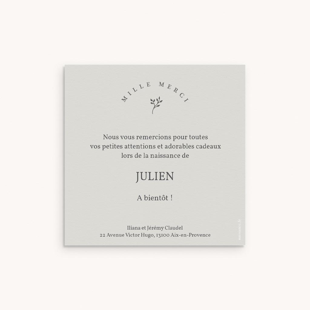 Carte de Remerciement Naissance Sweet brin floral pas cher