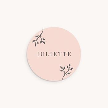 Sticker Enveloppe Naissance Sweet chic fille, 4,5 cm personnalisé