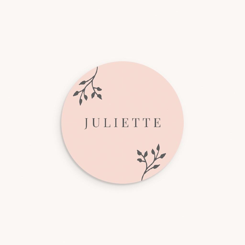 Sticker Enveloppe Naissance Sweet chic fille, 4,5 cm