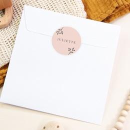 Sticker Enveloppe Naissance Sweet chic fille, 4,5 cm pas cher