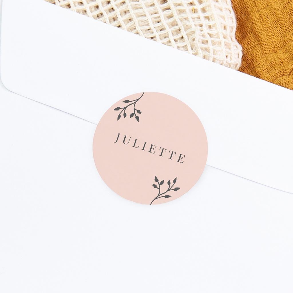 Sticker Enveloppe Naissance Sweet chic fille, 4,5 cm gratuit