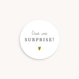 Sticker Enveloppe Naissance Avec Amour fille