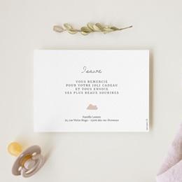 Carte de Remerciement Naissance Avec Amour fille gratuit