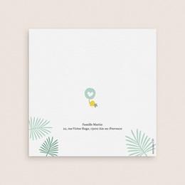 Faire-part de Naissance Toucan Pastel garçon gratuit