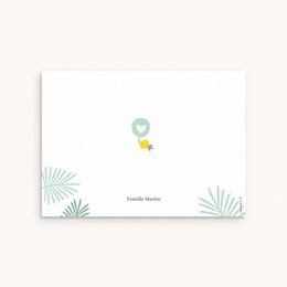 Carte de Remerciement Naissance Toucan Pastel garçon pas cher