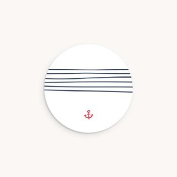 Sticker Enveloppe Naissance Petit mousse personnalisé