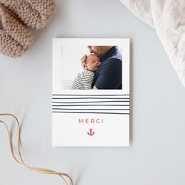 Carte de Remerciement Naissance Petit mousse gratuit