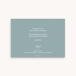 Carte de Remerciement Naissance Petit Bateau pas cher