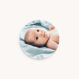 Sticker Enveloppe Naissance Photo bébé d'Amour, 4,5 cm