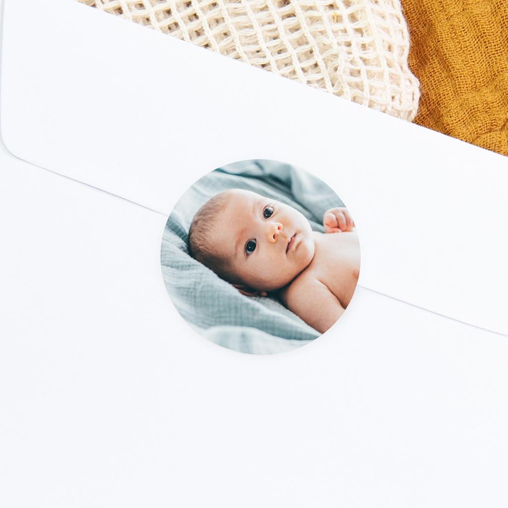 Sticker Enveloppe Naissance Photo bébé d'Amour, 4,5 cm gratuit