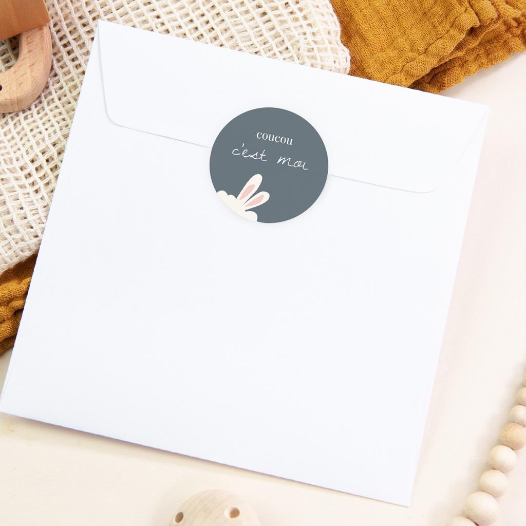 Sticker Enveloppe Naissance Lama Toudou, oreilles pas cher