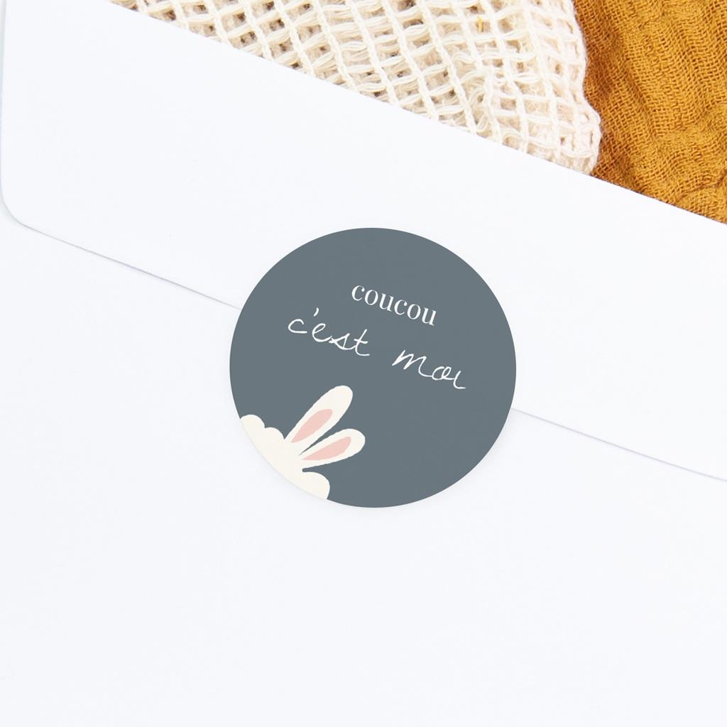 Sticker Enveloppe Naissance Lama Toudou, oreilles gratuit