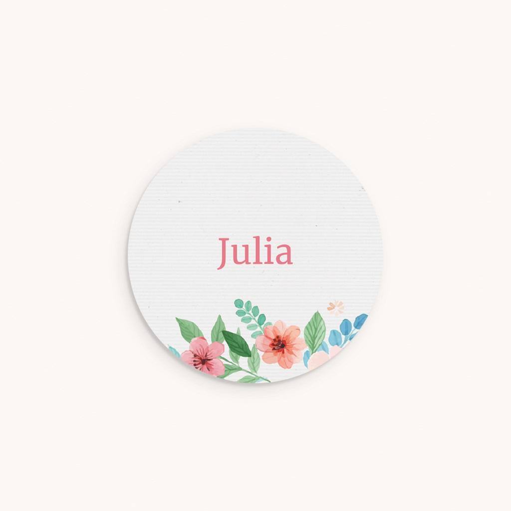 Sticker Enveloppe Naissance Nature Aquarelle