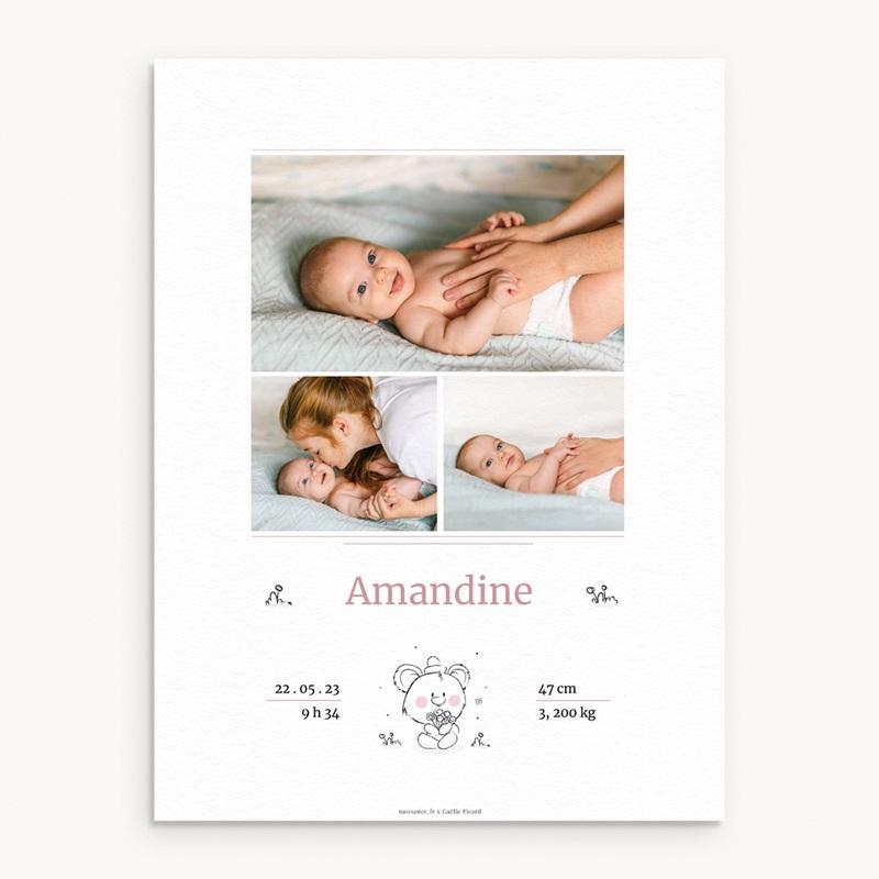 Affiche Déco Chambre Enfant Petit Ourson