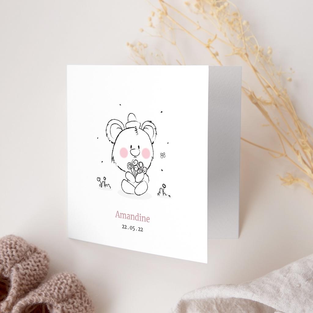 Faire-part de Naissance Petit Ourson gratuit