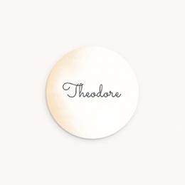 Sticker Enveloppe Naissance Petit Prince, Teintes chaudes