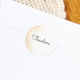 Sticker Enveloppe Naissance Petit Prince, Teintes chaudes gratuit