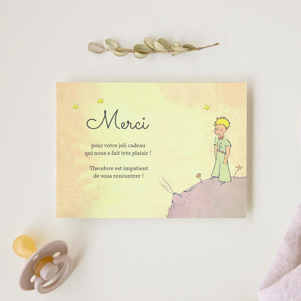 Carte de Remerciement Naissance Memories Sépia gratuit