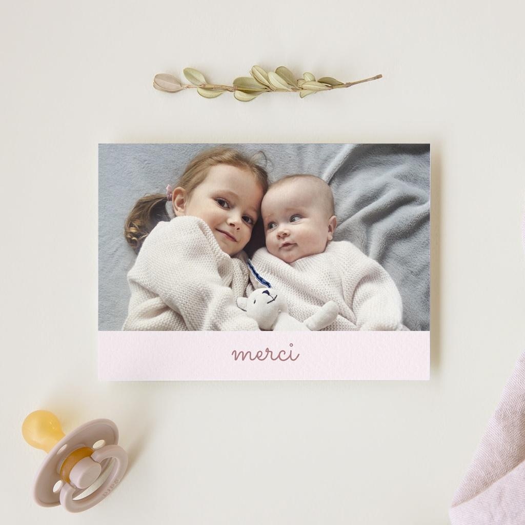 Carte de Remerciement Naissance L'Amour du Petit Prince gratuit