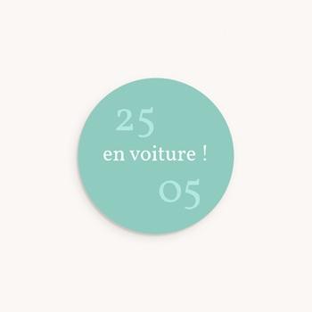 Sticker Enveloppe Naissance Petits Bolides, 4,5 cm