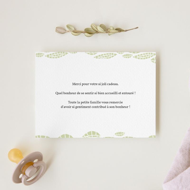 Carte de Remerciement Naissance Chouette famille gratuit