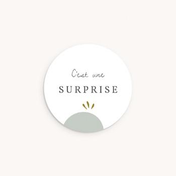 Sticker Enveloppe Naissance Avec amour, 4,5 cm pas cher