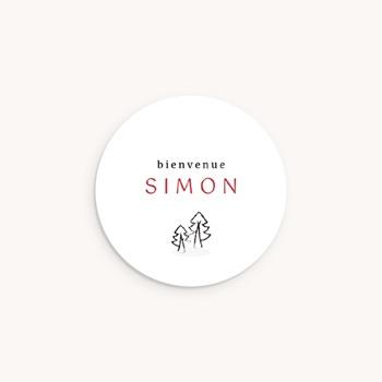 Sticker Enveloppe Naissance Petit cerf pas cher
