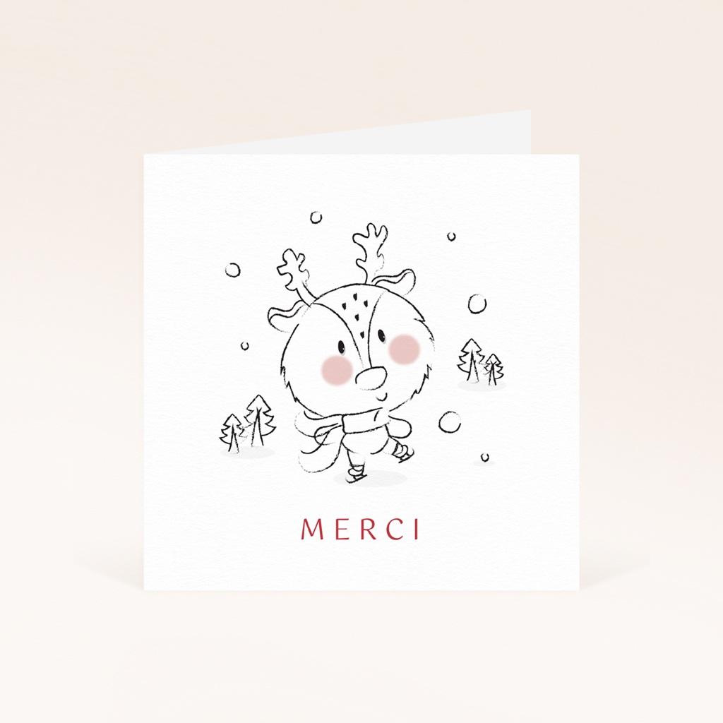 Carte de Remerciement Naissance Petit cerf