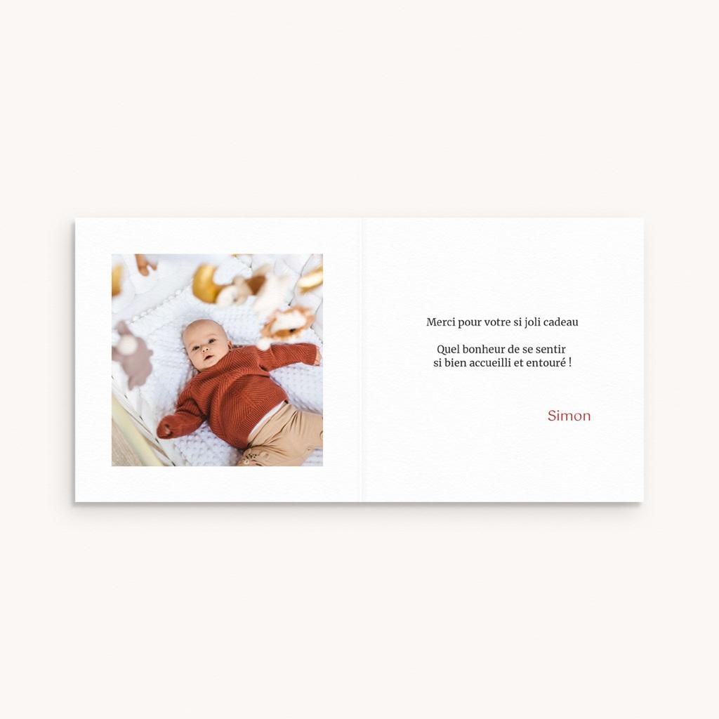 Carte de Remerciement Naissance Petit cerf pas cher